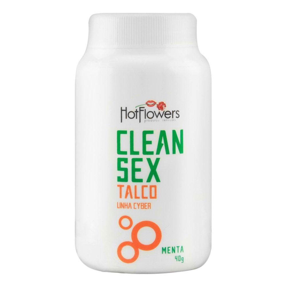CLEAN SEX TALCO LINHA CYBER 40G - HOT FLOWERS