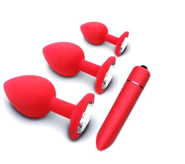 Kit Luxuria com Plugs e Cápsula Vibratória