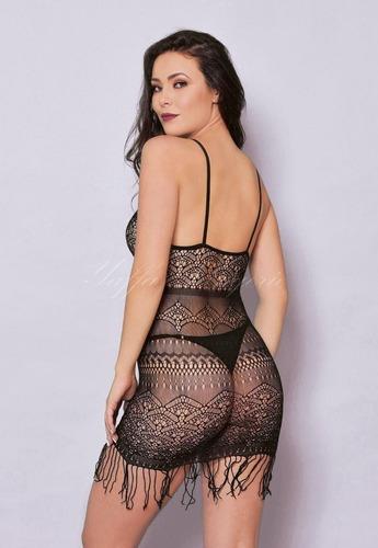 Mini Vestido Sensual com detalhes de Franja- Yaffa