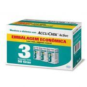 Accu-Chek Active Embalagem Econômica - 3 caixas com 50 tiras reagentes