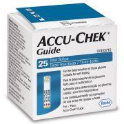 Accu-Chek Guide com 25 tiras reagentes