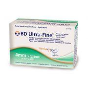Agulha BD Ultra-Fine para Caneta 4mm PENTAPOINTS com 100 unidades