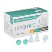 Agulhas para Caneta de Insulina UNIQMED 4mm com 100 Unidades (Compatível com Todas as Canetas Disponíveis no Mercado)