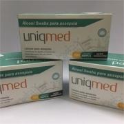 Alcool Swabs Uniqmed com 100 saches - PROMOPACK com 3 caixas