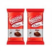 Chocolate ao Leite Diet Classic Nestle 25G - 2 Unidades
