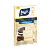 Chocolate branco cookies'n cream zero açúcar Linea Sucralose - 3 Unid. x 30g