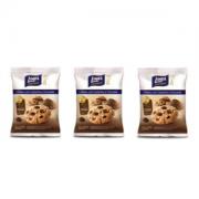 Cookies com castanha e chocolate zero açúcar Linea - 3 pacotes x 40g