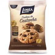Cookies com castanha e chocolate zero açúcar Linea - Cx. 10x40g