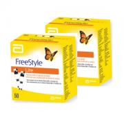 Freestyle Lite 2 caixas com 50 tiras reagentes