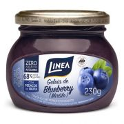 Geleia de mirtilo (BlueBerry) zero açúcar Linea - Vidro 230g