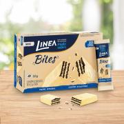 Linea Bites Mini Wafer Cookies'N Cream 52G - 8 Unidades