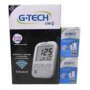 Kit G-Tech Free Lite smart + 100 tiras  (kit com 1 monitor, 1 lancetador, 10 lancetas, 10 tiras e estojo)