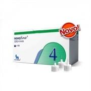 Novofine 4mm com 100 Agulhas para Caneta de Insulina Compatível com Todas as Canetas Disponíveis no Mercado e Victoza