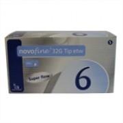 Novofine 6mm com 100 Agulhas para Caneta de Insulina Compatível com Todas as Canetas Disponíveis no Mercado e Victoza