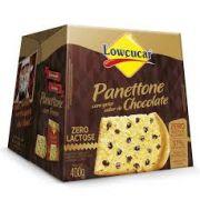 Panettone com gotas Sabor Chocolate Zero Lactose e Adição de Açúcares Lowçucar - 400 g