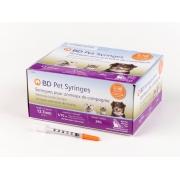 Seringa Becton e Dickinson Pet Insulina U-100 para Cães e Gatos Caixa c/ 100un