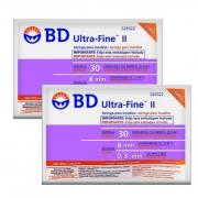 Seringa para Insulina BD Ultrafine 0,3mL (30UI) Agulha 8x0,3mm 30G  - LEVE 2 PACOTES
