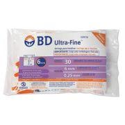 Seringa para Insulina BD Ultrafine 0,3mL (50UI) Agulha 6x0,25mm 31G - Pacote com 10 seringas
