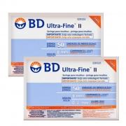 Seringa para Insulina BD Ultrafine 0,5mL (50UI) Agulha 8x0,3mm 30G - LEVE 2 PACOTES