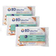 Seringa para Insulina BD Ultrafine 1mL (100UI) Agulha 6x0,25mm 31G - KIT com 30 seringas