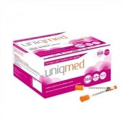Seringa para Insulina Uniqmed 0,3mL (30UI) Agulha 6x0,25mm 31G - Caixa com 100 seringas