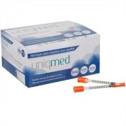Seringa para Insulina Uniqmed 0,5mL (50UI) Agulha 6x0,25mm 31G - Caixa com 100 seringas
