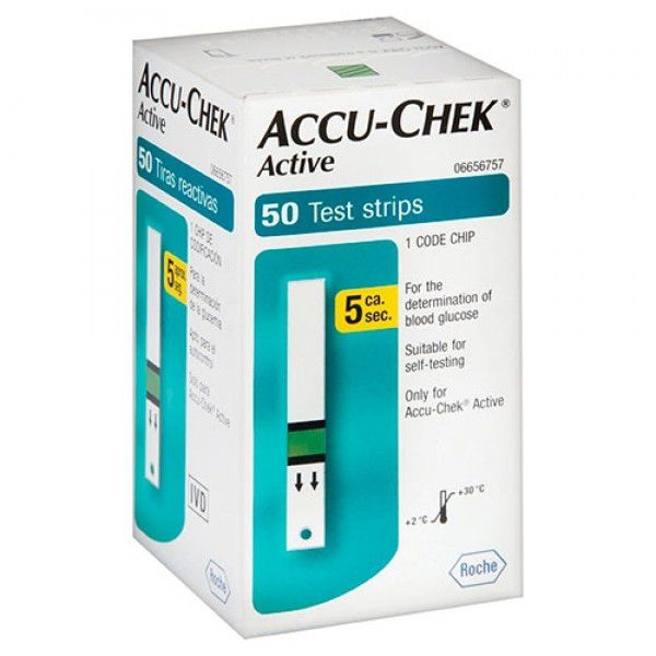 Accu-Chek Active com 50 tiras reagentes  - Diabetes On - Vendido e Entregue por Diabetic Center