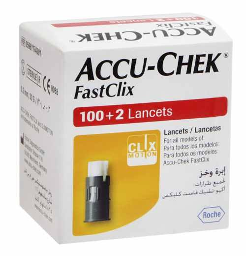 Accu-Chek FastClix com 102 lancetas  - Diabetes On - Vendido e Entregue por Diabetic Center