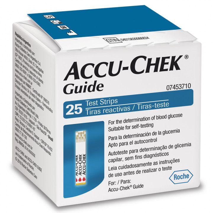 Accu-Chek Guide com 25 tiras reagentes  - Diabetes On - Vendido e Entregue por Diabetic Center