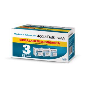Accu-Chek Guide Embalagem Econômica - 3 caixas com 50 tiras (validade das tiras 11.2020)  - Diabetes On - Vendido e Entregue por Diabetic Center