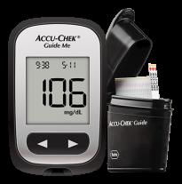 Accu-Chek Guide Me Kit (1 monitor, 2 baterias, 1 lancetador softclix  e 10 lancetas softclix) + 50 tiras  - Diabetes On - Vendido e Entregue por Diabetic Center