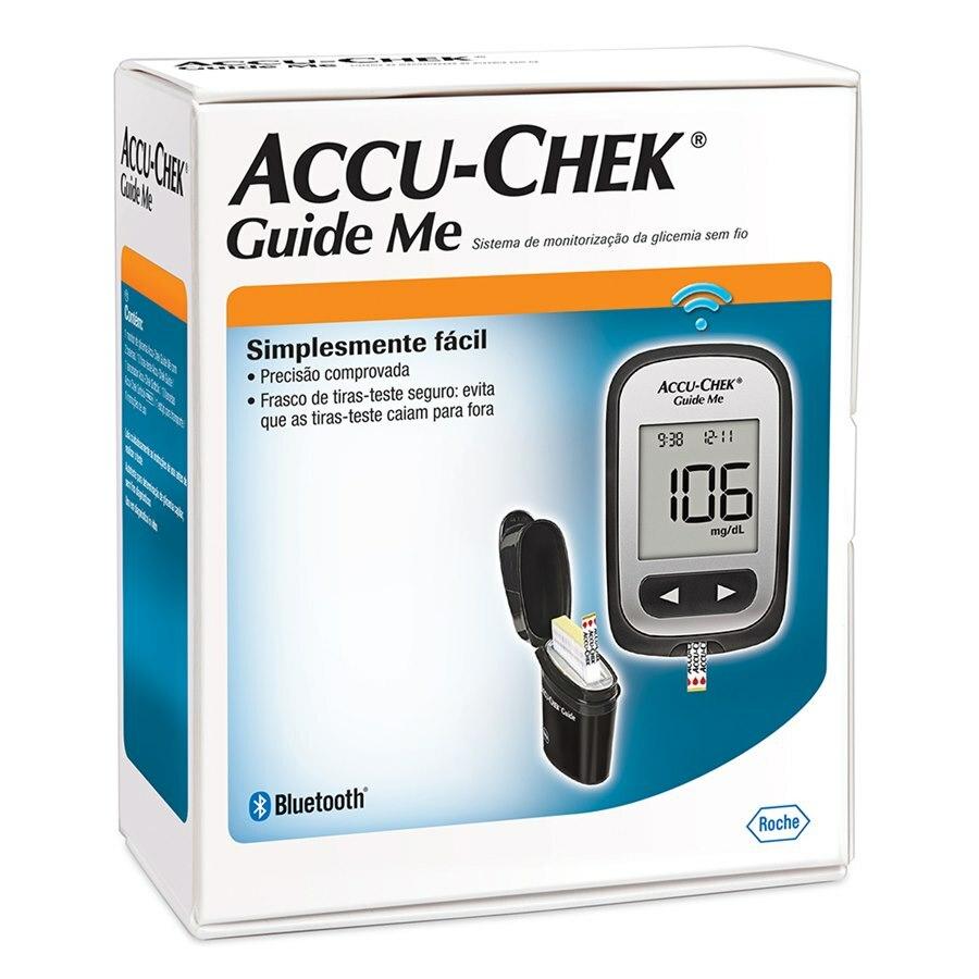 Accu-Chek Guide Me Kit (1 monitor, 2 baterias, 1 lancetador softclix , 10 lancetas softclix  e 10 tiras)  - Diabetes On - Vendido e Entregue por Diabetic Center