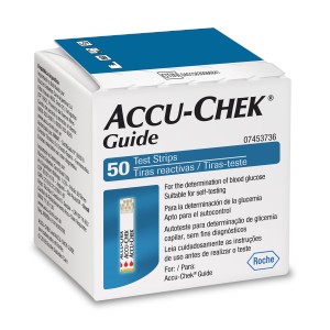 Accu-Chek Guide Tiras com 50 (validade das tiras 11.2020)  - Diabetes On - Vendido e Entregue por Diabetic Center