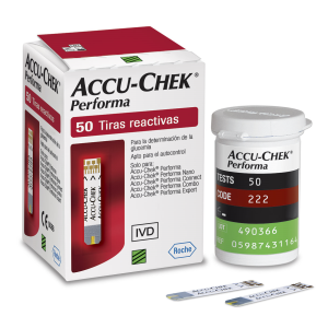 Accu Chek Performa com 50 tiras reagentes (validade 04.21)  - Diabetes On - Vendido e Entregue por Diabetic Center