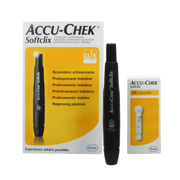 Accu-Chek Softclix Lancetador + 25 lancetas  - Diabetes On - Vendido e Entregue por Diabetic Center
