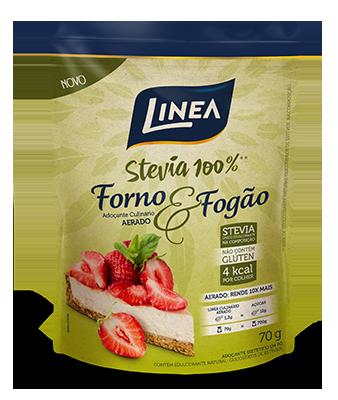 Adoçante Culinário Aerado Forno & Fogão Stevia 100% Linea - 70g  - Diabetes On - Vendido e Entregue por Diabetic Center