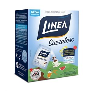 Adoçante dietético em pó Linea Sucralose - Cx. 50 envelope  - Diabetes On - Vendido e Entregue por Diabetic Center