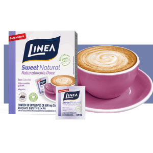 Adoçante Dietético Linea SweetNatural 50 envelopes de 600mg  - Diabetes On - Vendido e Entregue por Diabetic Center