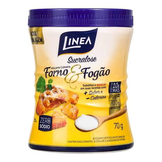 Adoçante em Pó Linea Sucralose Forno e Fogão - pote 70g  - Diabetes On - Vendido e Entregue por Diabetic Center