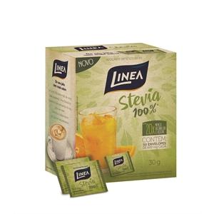 Adoçante Stevia 100% Linea 50 envelopes  - Diabetes On - Vendido e Entregue por Diabetic Center
