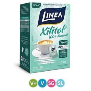 Adoçante Xilitol Natural Linea - Cx. 50 envelopes  - Diabetes On - Vendido e Entregue por Diabetic Center