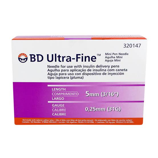 Agulha BD Ultra-Fine para Caneta 5mm com 100 unidades  - Diabetes On - Vendido e Entregue por Diabetic Center