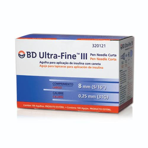 Agulha BD Ultra-Fine para Caneta 8mm com 100 unidades  - Diabetes On - Vendido e Entregue por Diabetic Center