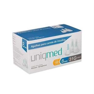 Agulhas para Caneta de Insulina Uniqmed 8mm com 100 Unidades Compatível com Todas as Canetas Disponíveis no Mercado  - Diabetes On - Vendido e Entregue por Diabetic Center