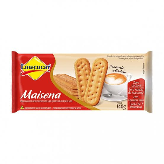Biscoito de Maisena Lowçucar Zero Adição de Açúcares 140g  - Diabetes On - Vendido e Entregue por Diabetic Center