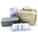 Bolsa para Medicamentos Térmica Pharma Matelassê Gold 5 Litros + 2 gelos - Diabetes On - Vendido e Entregue por Diabetic Center