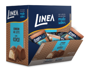 Bombom ao Leite com Coco Linea 18x11g  - Diabetes On - Vendido e Entregue por Diabetic Center