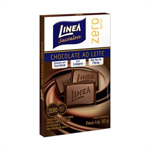 Chocolate ao leite zero açúcar Linea Sucralose - 3 Unid. x 30g  - Diabetes On - Vendido e Entregue por Diabetic Center