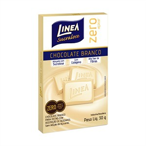 Chocolate branco zero açúcar Linea Sucralose - 3 Unid. x30g  - Diabetes On - Vendido e Entregue por Diabetic Center