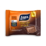 Chocolate Mini Ao Leite Sem Açúcar Zero Lactose Linea Sucralose - display 15x13g  - Diabetes On - Vendido e Entregue por Diabetic Center